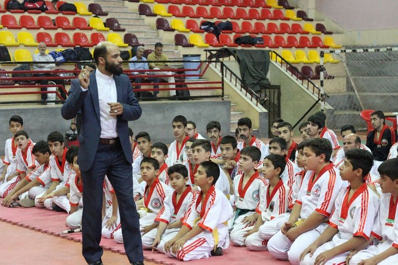 Talking about competition rules on Nunchaku Competition 2017